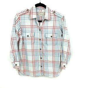 Current Elliot Perfect Shirt Indigo Mixed Gingham